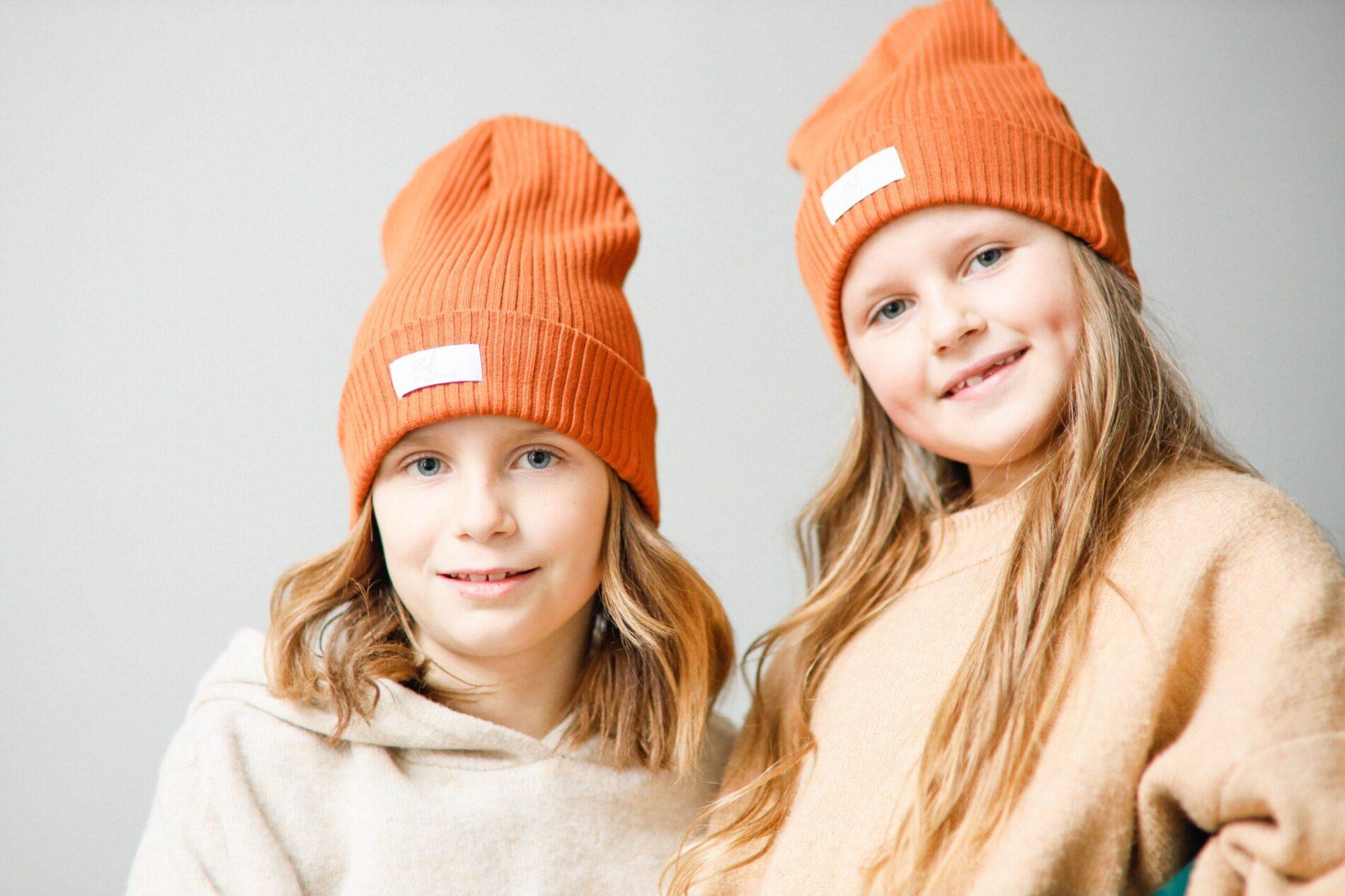 Czapka bawełniana Coruña dla całej rodziny - kolor naranja rojizo